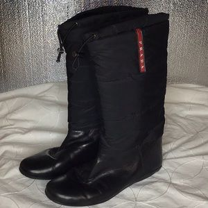 Quilted PRADA winter boots